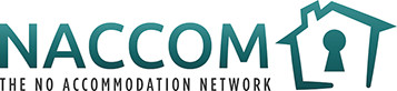 NACCOM - The No Accommodation Network Logo