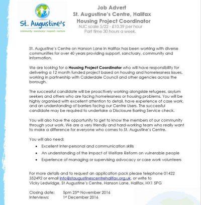 Housing Project Coordinator Job Description