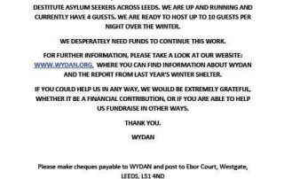 WYDAN Appeal for Funding