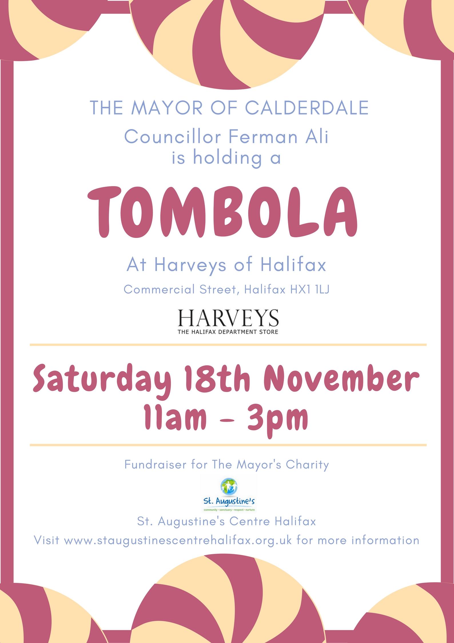 Tombola at Harveys of Halifax - Saturday 18th November ...  Tombola at Harv...