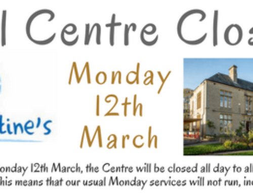 Full Centre Closure – Monday 12th March