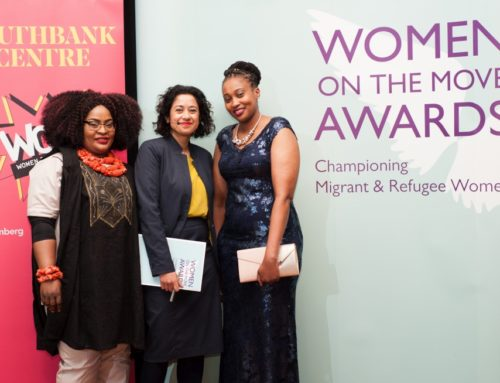 Vee and Florence awarded the UNHCR/Migrants Organise Women on the Move Award 2018