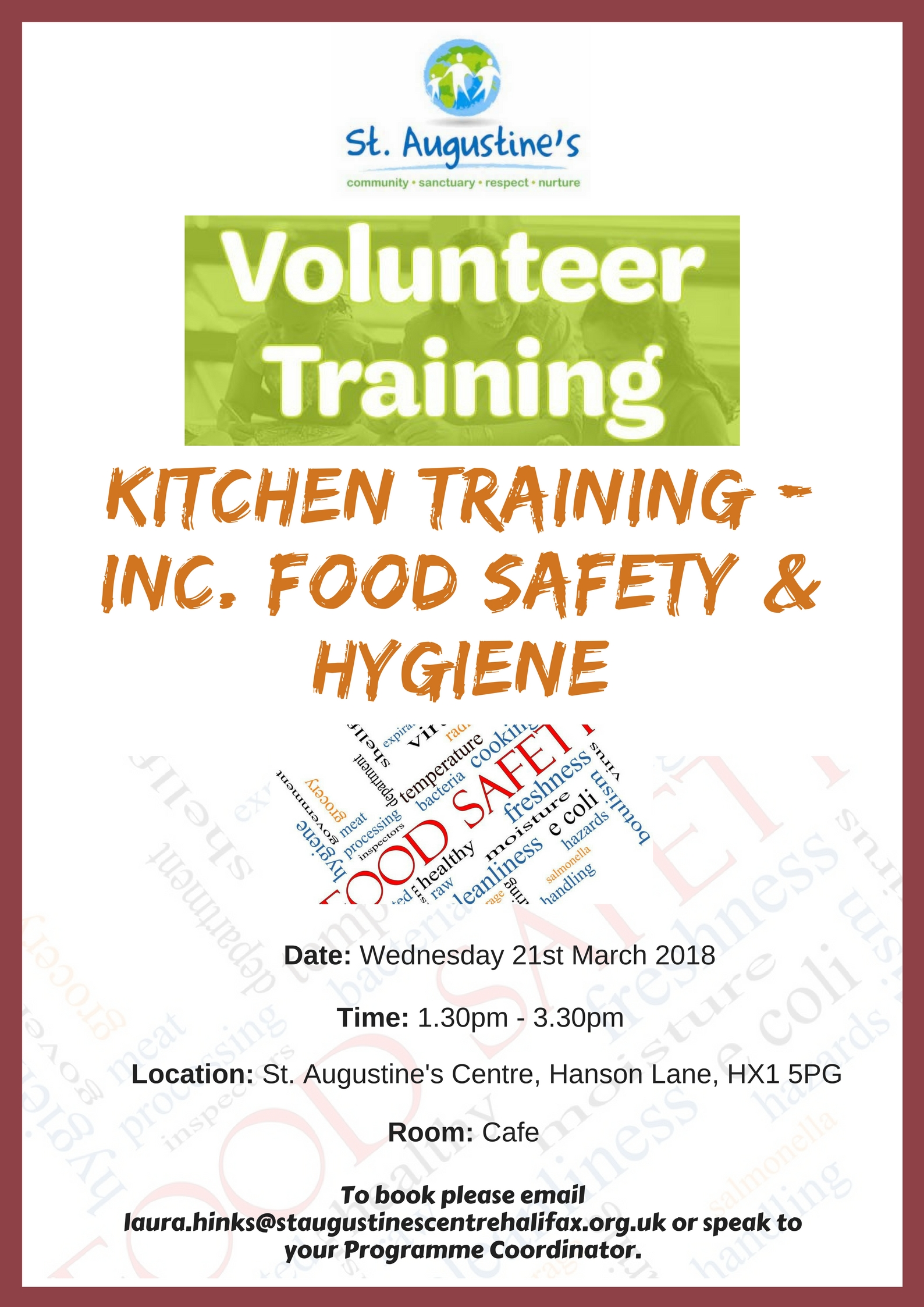 Kitchen Volunteer Training - St. Augustine\'s Centre