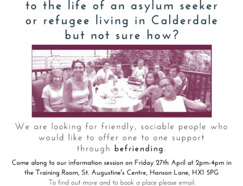 Come along to our Befriending information session on Friday 27th April