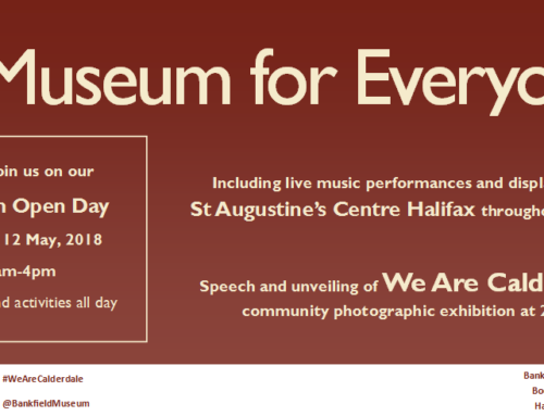 Don't Forget – Bankfield Museum Open Day this Saturday 12th May 2018!